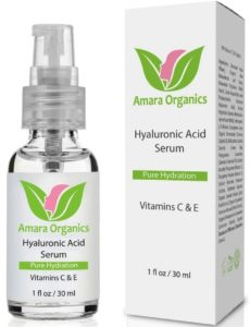 Amara Organics Hyaluronic Acid Serum for Skin with Vitamin C & E