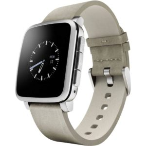 Pebble Time Steel Smartwatch for Android and iOS