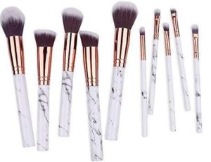 The Beautiful Marble Luxe Professional Makeup Brushes
